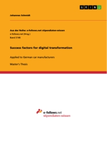Titel: Success factors for digital transformation