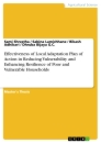 Titel: Effectiveness of Local Adaptation Plan of Action in Reducing Vulnerability and Enhancing Resilience of Poor and Vulnerable Households
