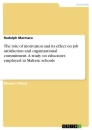 Titel: The role of motivation and its effect on job satisfaction and organizational commitment. A study on educators employed in Maltese schools
