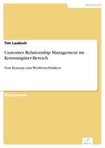 Titel: Customer Relationship Management im Konsumgüter-Bereich