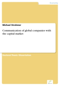 Titel: Communication of global companies with the capital market
