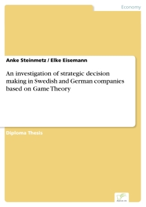 Titel: An investigation of strategic decision making in Swedish and German companies based on Game Theory