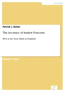 Titel: The Accuracy of Analyst Forecasts
