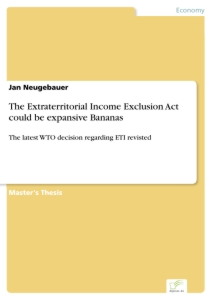 Titel: The Extraterritorial Income Exclusion Act could be expansive Bananas