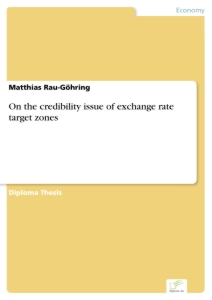 Titel: On the credibility issue of exchange rate target zones