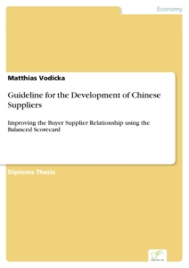 Titel: Guideline for the Development of Chinese Suppliers