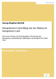 Titel: Integrations-Controlling mit der Balanced Integration Card