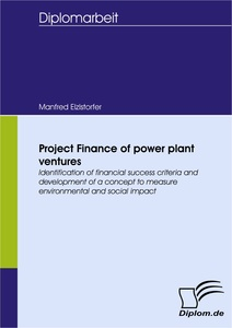 Titel: Project Finance of power plant ventures