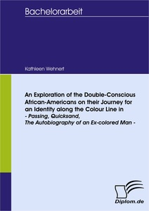 Titel: An Exploration of the Double-Conscious African- Americans on their Journey for an Identity along the Colour Line in -Passing, Quicksand, The Autobiography of an Ex-colored Man