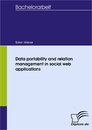 Titel: Data portability and relation management in social web applications