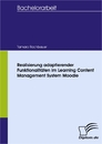 Titel: Realisierung adaptierender Funktionalitäten im Learning Content Management System Moodle