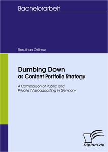 Titel: Dumbing Down as Content Portfolio Strategy