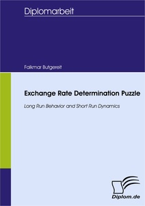 Titel: Exchange Rate Determination Puzzle - Long Run Behavior and Short Run Dynamics
