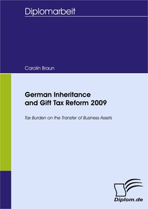 Titel: German Inheritance and Gift Tax Reform 2009