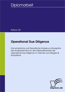 Titel: Operational Due Diligence
