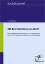 Titel: CSR Berichterstattung am Limit?