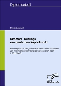 Titel: Directors` Dealings am deutschen Kapitalmarkt