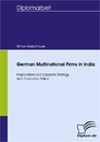 Titel: German Multinational Firms in India