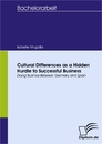 Titel: Cultural Differences as a Hidden Hurdle to Successful Business