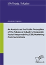 Ti An Analysis on the Public Perception of the Tobacco Industry's Corporate Social Responsibility (CSR) Marketing Communications
