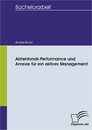 Titel: Aktienfonds-Performance und Anreize für ein aktives Management