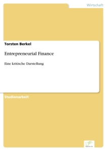 Titel: Entrepreneurial Finance
