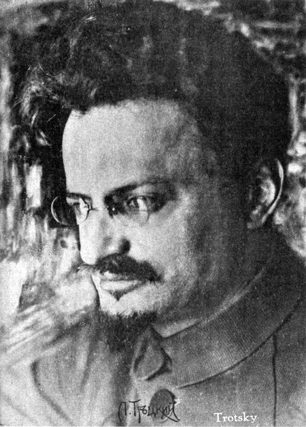 Trotzki im Jahre 1919, Aufnahme von dem namhaften Porträtfotografen Moisej Nappelbaum (David King Collection).