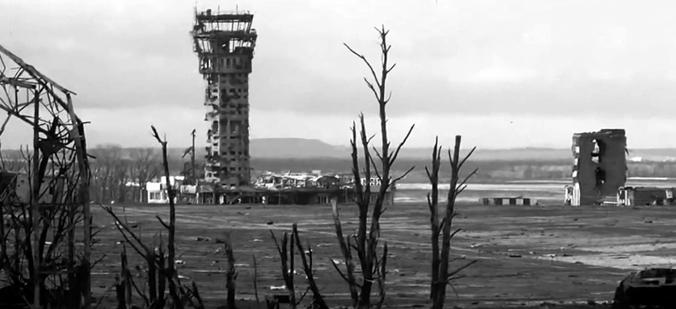 Der umkämpfte Flughafen in Donezk, by Правда ДНР/Pravda DPR