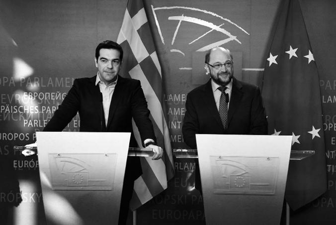 Premier Alexis Tsipras mit EU-Parlamentspräsident Martin Schulz (CC-BY-SA 3.0, by Αλέξης Τσίπρας Πρωθυπουργός της Ελλάδας)