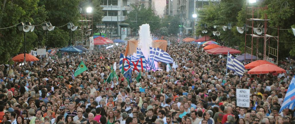 Demonstration gegen das Spardiktat in Athen