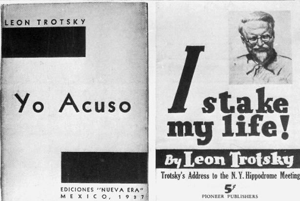 Von Trotzki verfasste Bücher über die Moskauer Prozesse