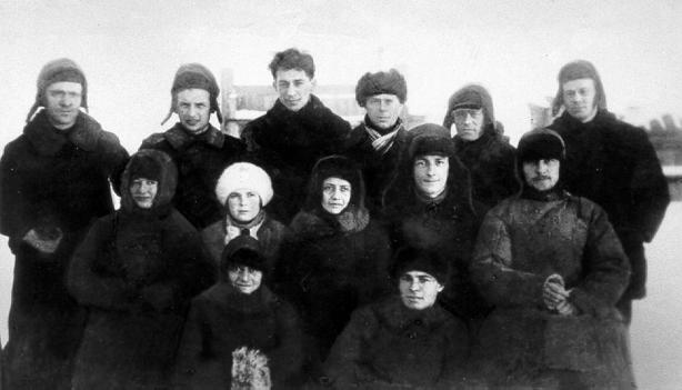 Gruppe verbannter Oppositioneller in Sibirien. 1928
