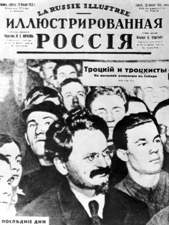 Ausgabe einer Emigrantenzeitung, die der Verbannung Trotzkis und anderer Mitglieder der linken Opposition gewidmet war.