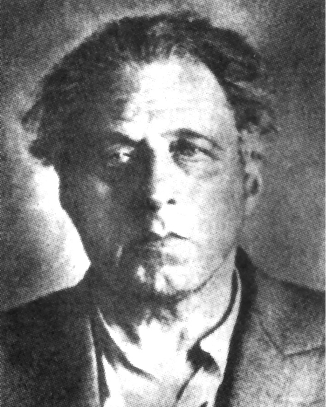 Porträt von W.E. Meyerhold im Gefängnis