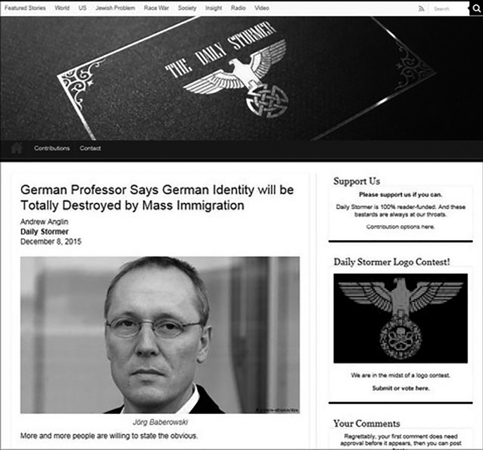 Amerikanische Nazi-Website »The Daily Stormer« huldigt Baberowski