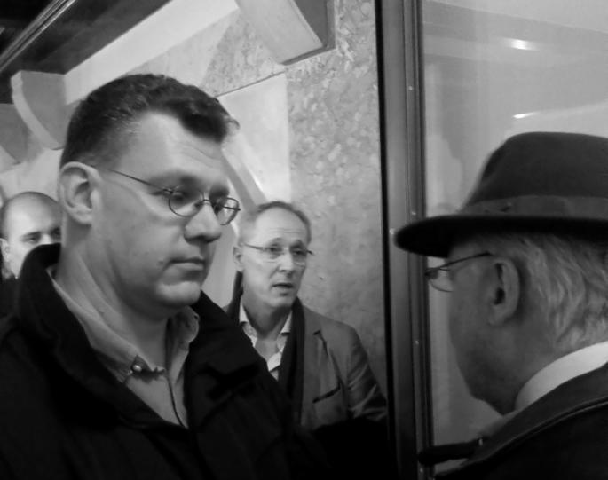 Jörg Baberowski verwehrt David North den Zutritt zur Service-Veranstaltung